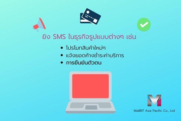 ยิง SMS ในธุรกิจต่างๆ